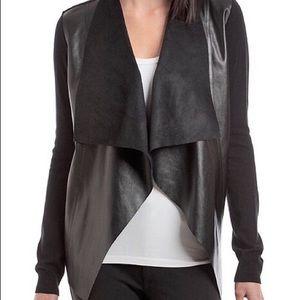 Michael Kors Faux Leather Knit Cardigan